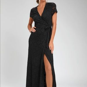 Amuse Society Great Lengths lace wrap maxi-Med-NWT